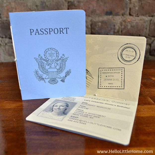 These DIY French Themed Party Decorations With Printable Passport Inviation Are Perfect For Your Next