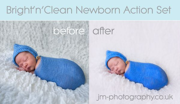 Newborn photoshop action set plus tutorial