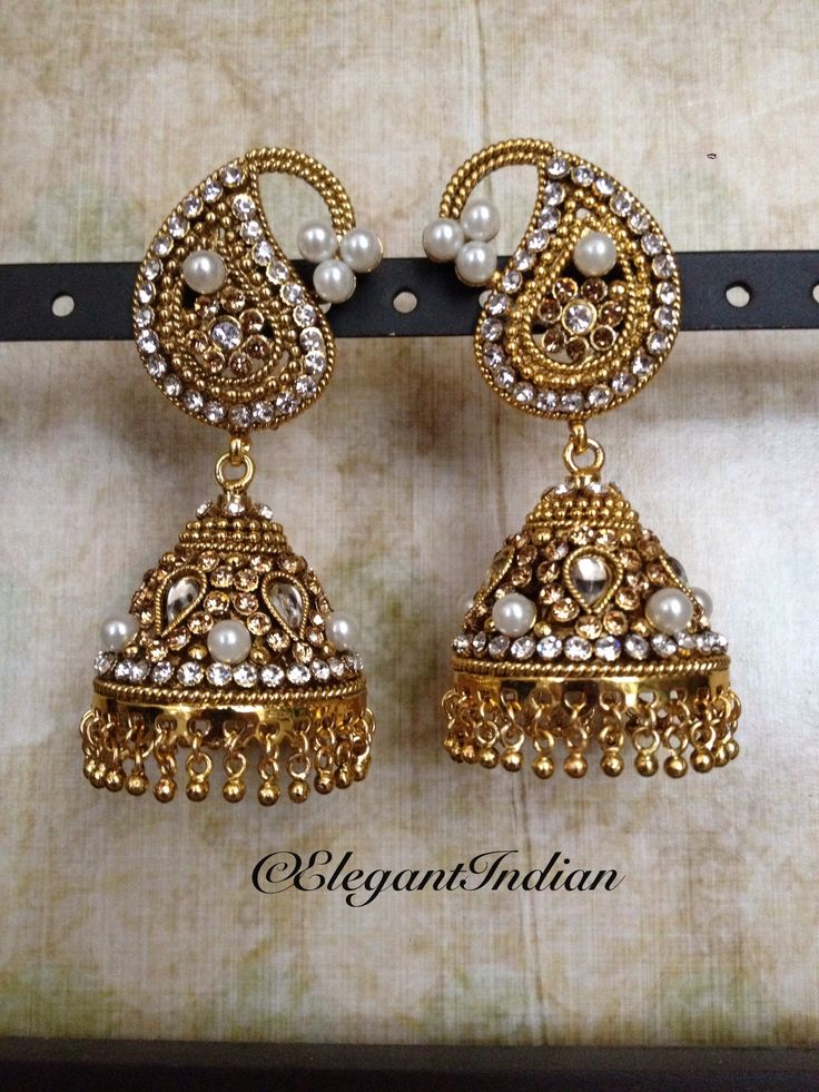 Gold & Pearl Earrings