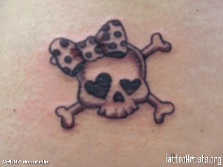 Girly Tattoos | GIRLY SKULL - Tattoo Artists.org