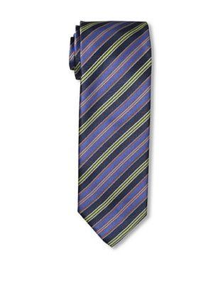Massimo Bizzocchi Men's Stripe Tie, Blue/Orange