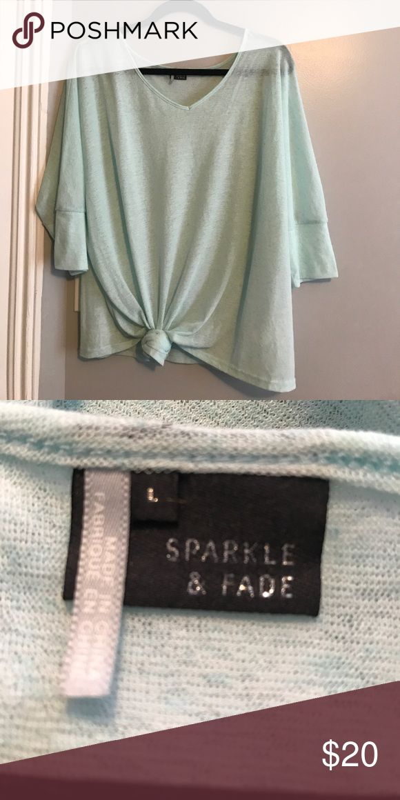 Mint Blue Tie-up shirt! Perfect condition lightweight shirt. Perfect for over bathing suits or with an outfit. Great for summer. Sparkle & Fade Tops Blouses