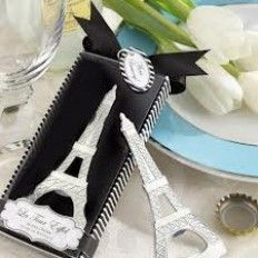 La Tour Eiffel Tower Chrome Bottle Opener Wedding Favour