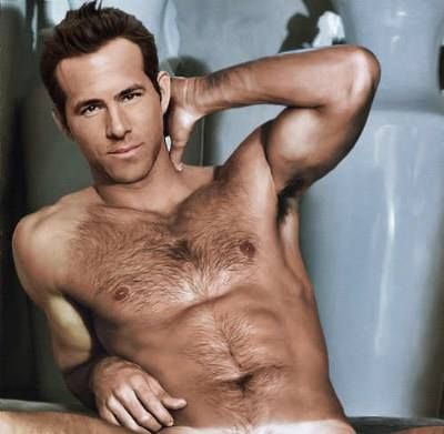 Ryan Reynolds. Wahw - just the right amout of hair on his chest NEVER NEVER shave it again please!                                                                                                                                                      More