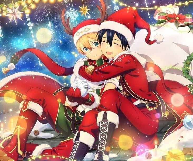 On Instagram The Best Christmas Visual Ever Like Comment Sword Art Online Sword Art Sword Art Online Asuna Christmas anime wallpaper sao
