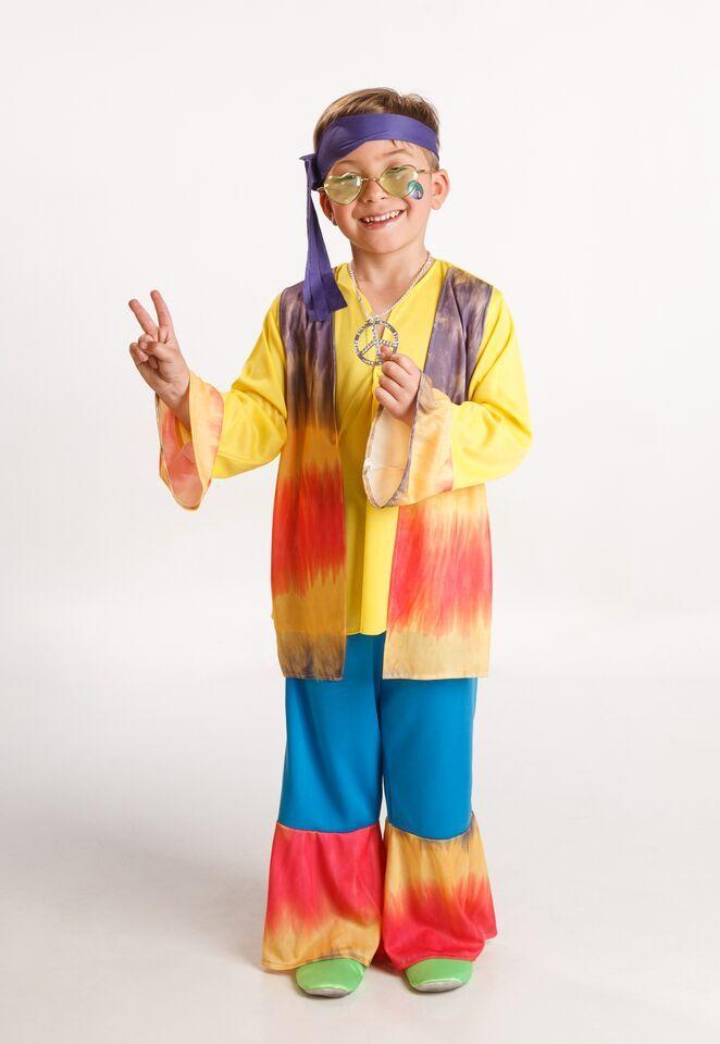 DisfracesMimo, disfraz hippie colorido para niño varias tallas. Los pequeños de la casa se