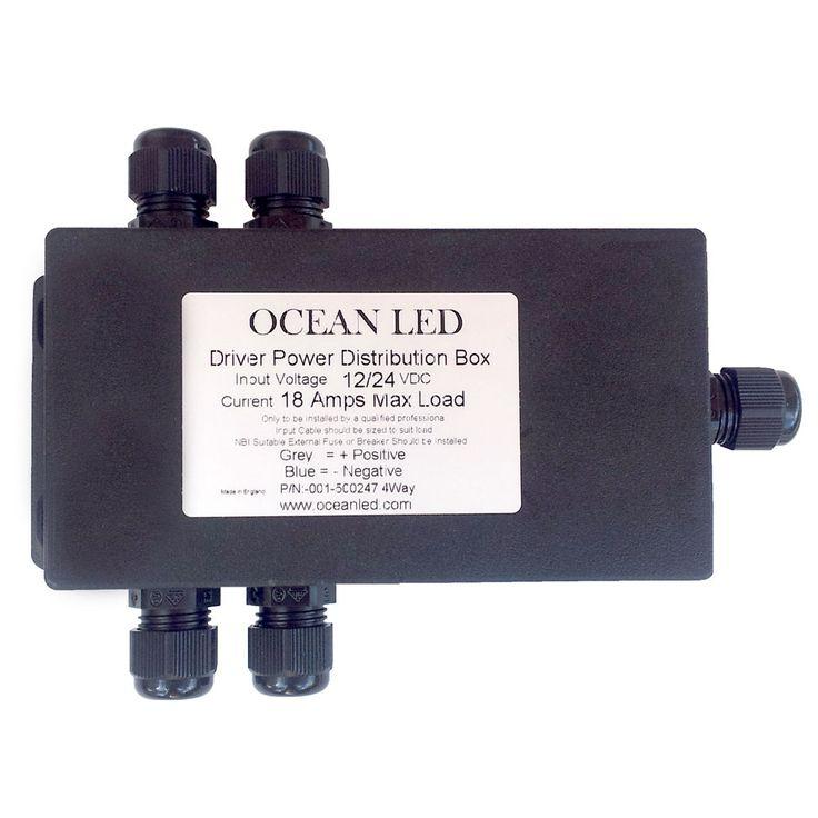 OceanLED 4-Way Junction Box - https://www.boatpartsforless.com/shop/oceanled-4-way-junction-box/