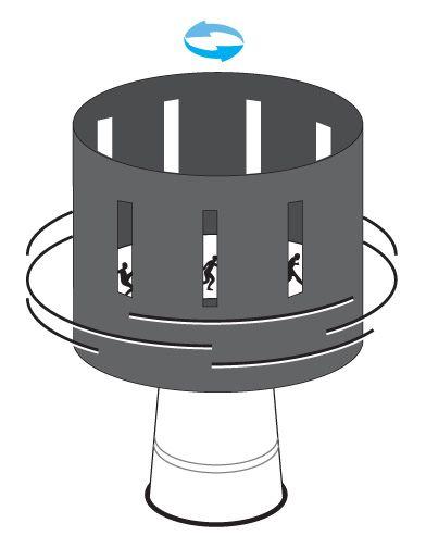En este proyecto vamos a enseñar una técnica para hacer dibujos animados y que también es el origen del cine. Es un zoótropo, un tambor circular con ventanas y dibujos en su interior que al girarlo, gracias a la luz, se da la sensación de movimiento.