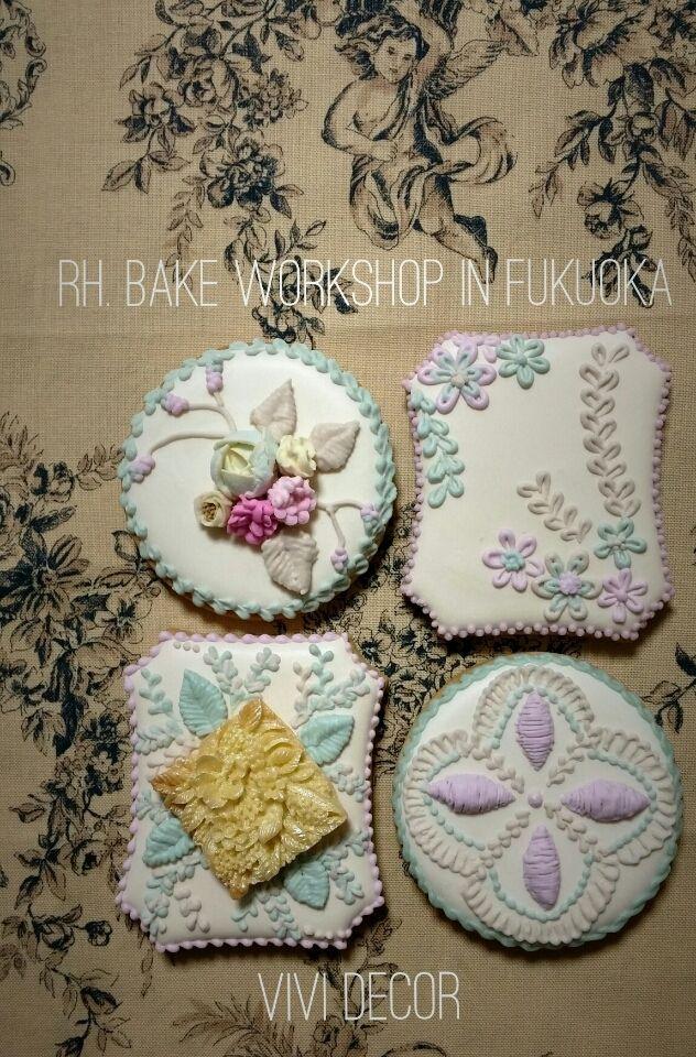 Embroidery plaque cookies! アイシングクッキー|福岡・太宰府アイシングクッキー教室Vivi Decor -4ページ目
