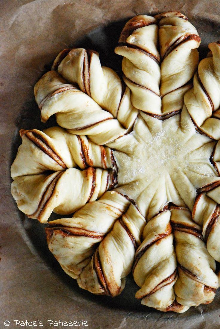Patce's Patisserie: Brotblume mit Nutella aka. Nutellastern - (K)eine brotlose Kunst                                                                                                                                                      Mehr