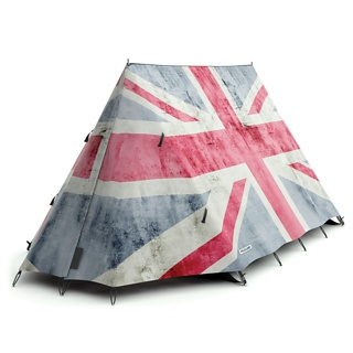 Would be perfect for camping at the Fuji Rock this summer. God Save the Queen! - FieldCandy Tent: Rule Britannia at Firebox.com,  £395.00