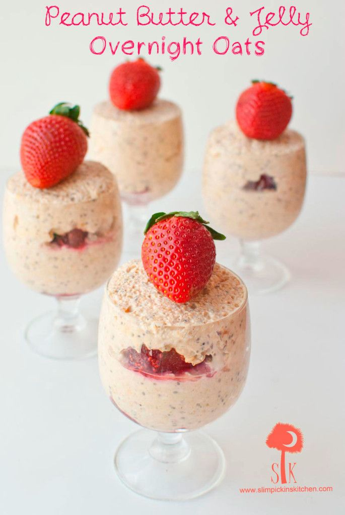 Peanut Butter & Jelly Overnight Oats: Made with natural peanut butter ...