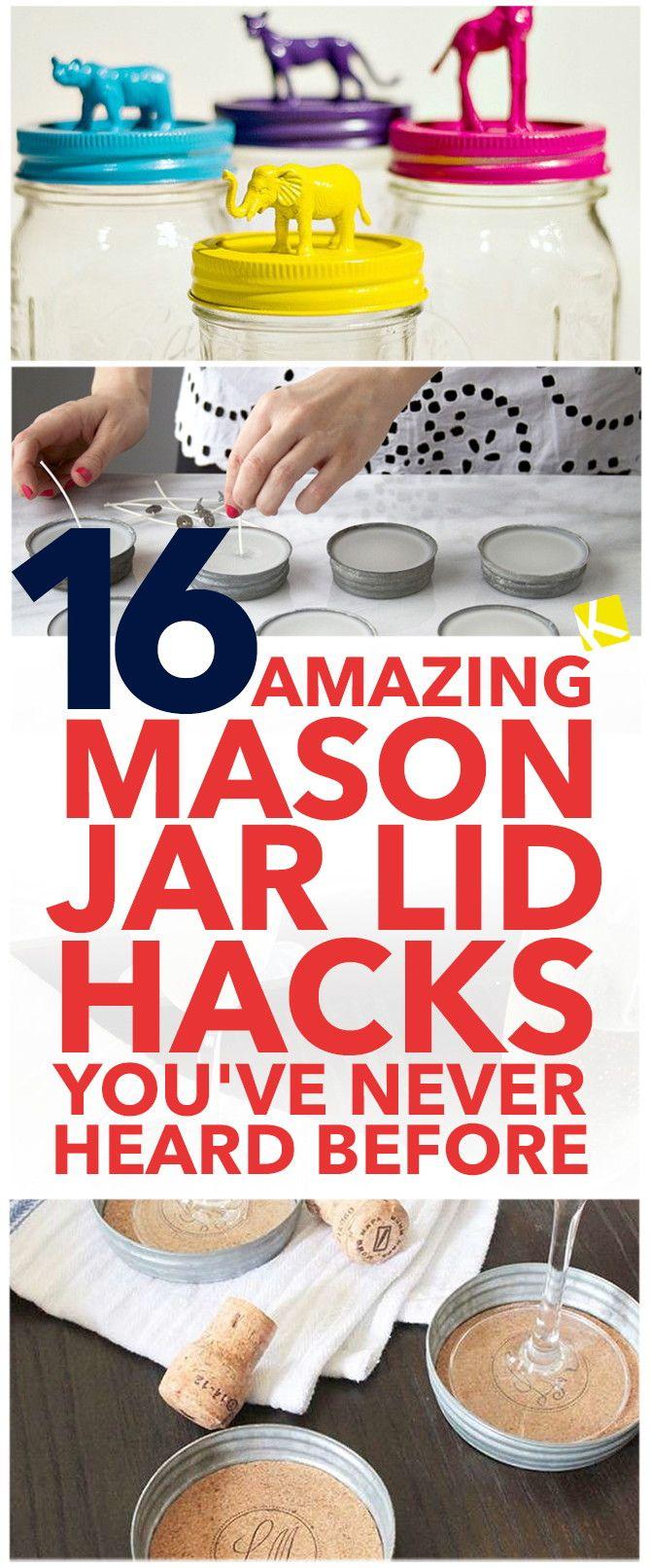 16 Amazing Mason Jar Lid Hacks You've Never Heard Before