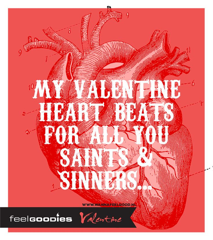 My Valentine heart beats for all you Saints & Sinners...