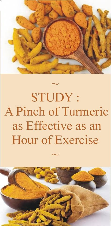 Is This Possible - Read This Study : A Pinch Of Turmeric As Effective As An Hour Of Exercise