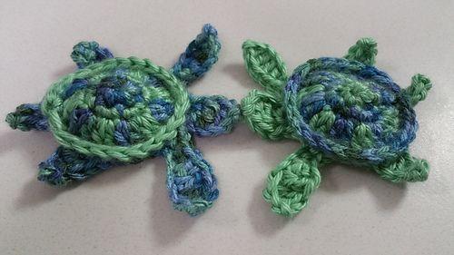 Sea Turtle Appliqué - free crochet pattern by Kristin Jacobs                                                                                                                                                                                 More