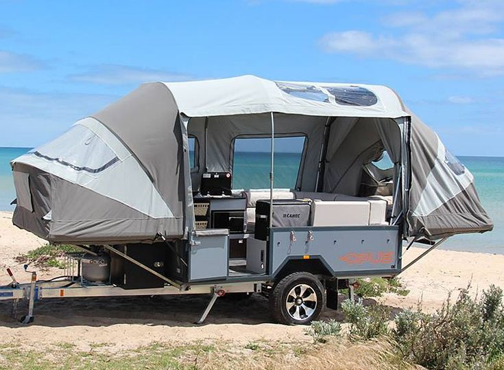 the air OPUS self-inflating camper goes from trailer to tent in sub 90 seconds