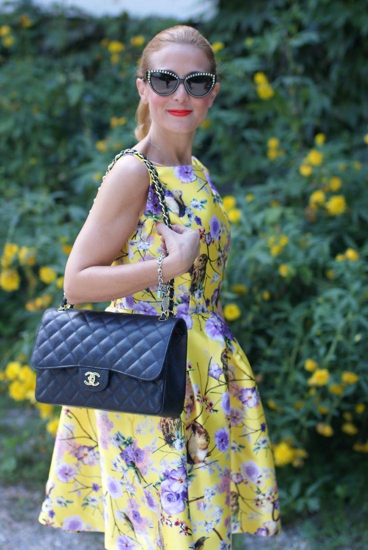 Chanel bag and Zaful dress