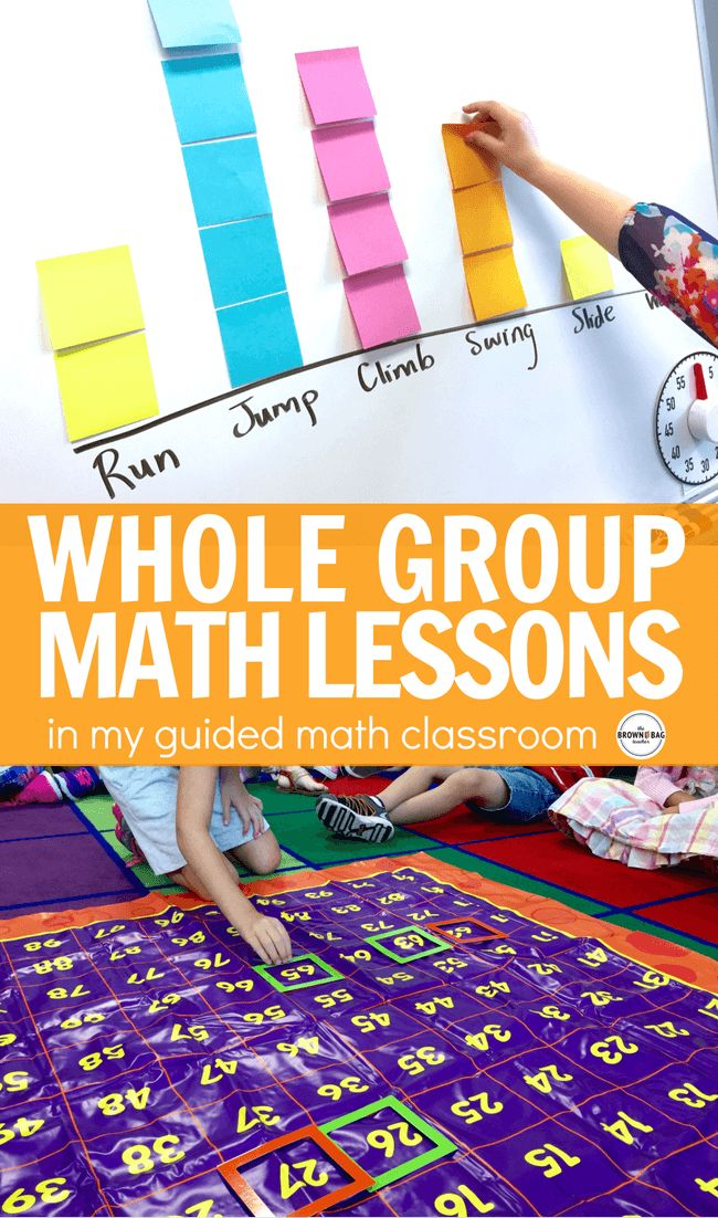 Whole-group math lessons are short, intentional lessons that anchor our learning and set the foundation for our small-group instruction during guided math.