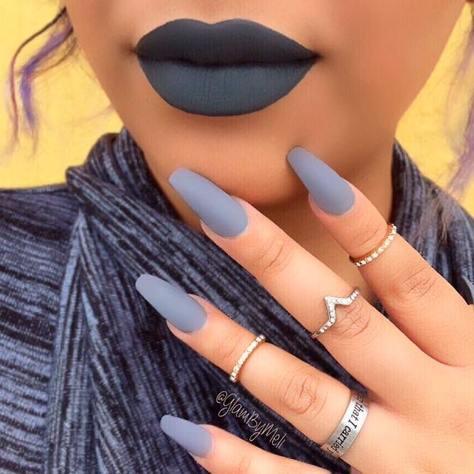 Matching Lipstick And Nail Polish Ideas | NailDesignsJourna…