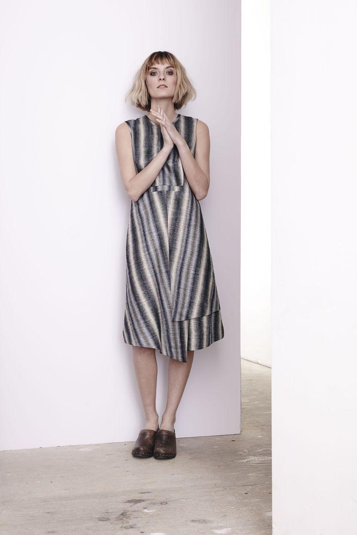 Linen Stripe Marlowe Dress  www.comrags.com
