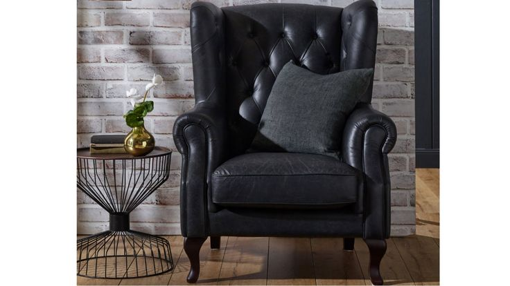 Home :: Furniture :: Lounges :: Leather Lounges :: Wiltshire Leather Wing Armchair