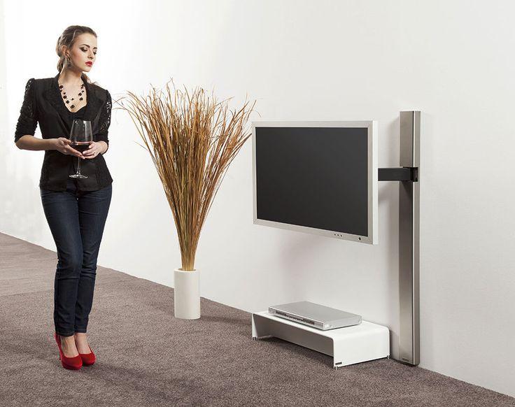 Supporto per TV da parete design minimalista / girevole TV WANDHALTER ART128 wissmann raumobjekte