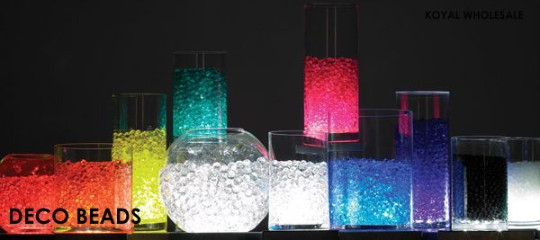 5 Ideas for Glow Centerpieces - Water Pearls - mazelmoments.com