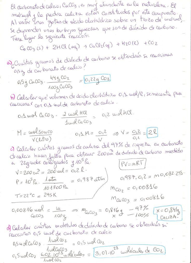 Ejercicio resuelto de Reacciones químicas. Nivel: 4 ESO.