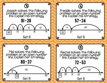 Open Number Lines: Task Cards {Addition and Subtraction}                                                                                                                                                                                 More