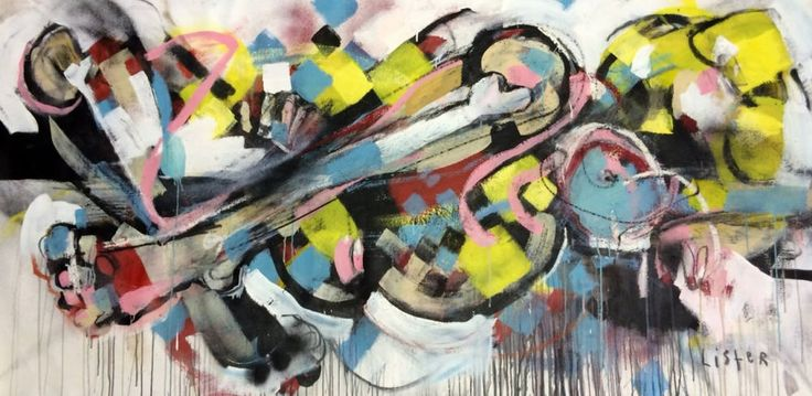 ANTHONY LISTER - BRIGHT BITCH RECLINING - ROBERT FONTAINE GALLERY  http://www.widewalls.ch/artwork/anthony-lister/bright-bitch-reclining/ #painting