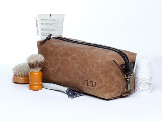 Personalized Men's Dopp Kit Toiletry Bag Gift for Men