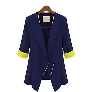 ACOM NO.9 da Mulher elegante Slim Fit meia luva Blazers – USD $ 16.99
