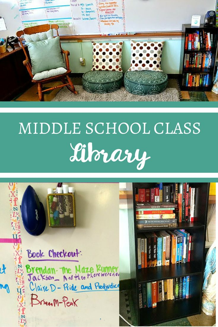 Middle School Classroom Library - love the way it's set up!