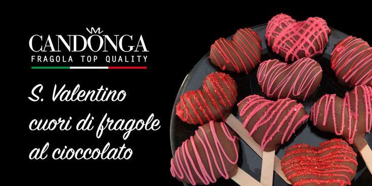 Per S.Valentino condividete i vostri cuori! Una dolce proposta : cuori di Candonga Fragola Top Quality al cioccolato. #ricette #candongaitalia #cadonga #fragole #top_quality #basilicata #SanValentino #valentineday