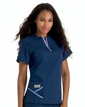 Urbane Scrubs 9509 Y-neck Top | Medical Scrubs Collection  2 @ $25 each Navy/Ceil