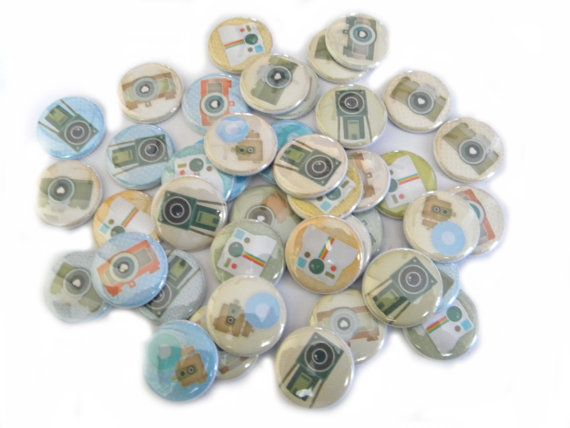 Vintage Camera FLAT BACK Buttons by buttonsandbadges on Etsy, $7.50