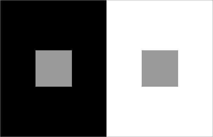 Złudzenie optyczne - szare pole