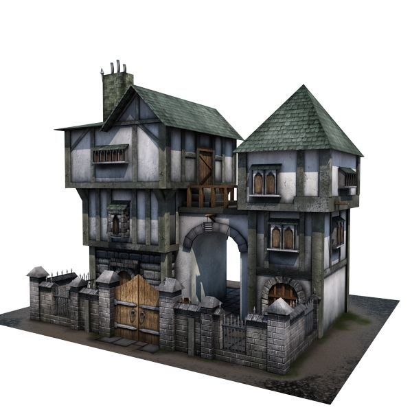 Medieval House 04 Game Ready 3d Model By Store Cgduck Pro