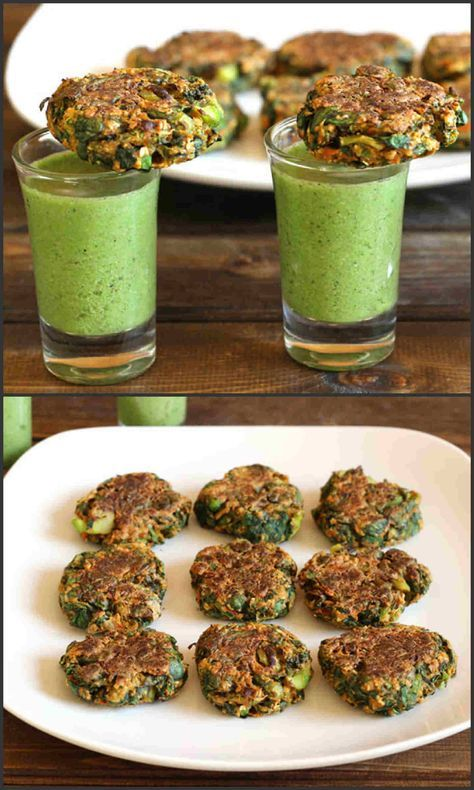 Fat-Free Spinach Broccoli Patties is a very healthy, easy to make appetizer or snack that uses broccoli, spinach and chickpea flour as the main ingredients and can be prepared in less than 20 minutes. These patties are crispy on the outside with soft and chewy texture inside. #diet #recipes #healthy #food #appetizer #snack #vegetarian #vegan #glutenfree #delicious #tasty #yummy