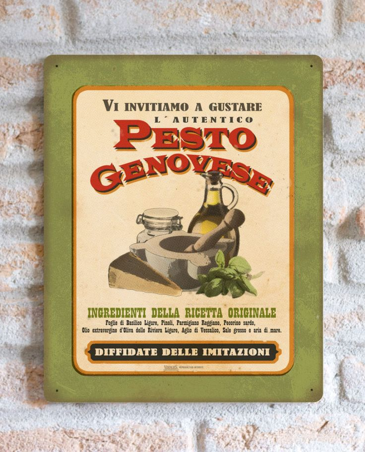 Pesto Genovese | TARGA | Vimages - Immagini Originali in stile Vintage