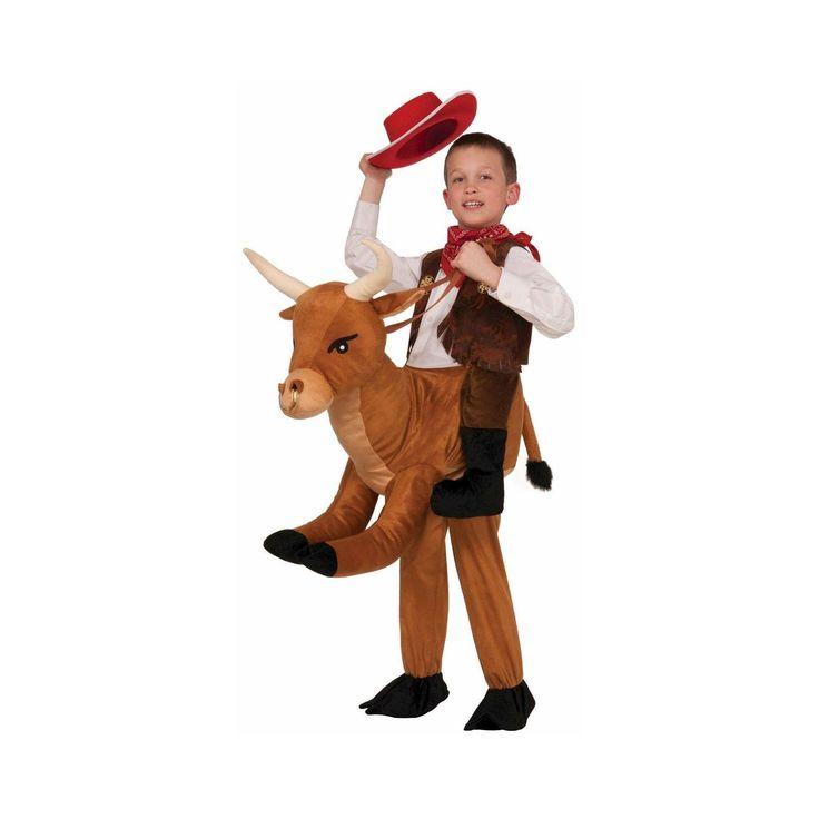 Halloween Kids' Ride On Bull Costume, Kids Unisex, Brown