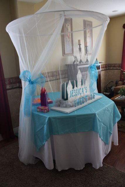 we need atleast ONE table with blue and white and SOME pink on it...to fit in with the Cinderella theme even better!!!