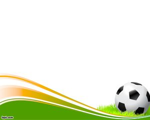Soccer BAll PowerPoint - Great for any Sports Presentations. Has an ample space for texts, pictures and other stuff to make your presentation stand out.