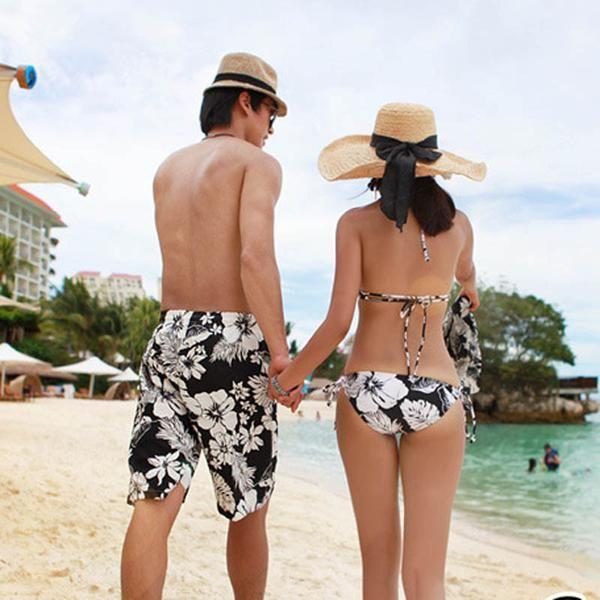 Couple Matching Bikini Swimwear Set Hibiscus