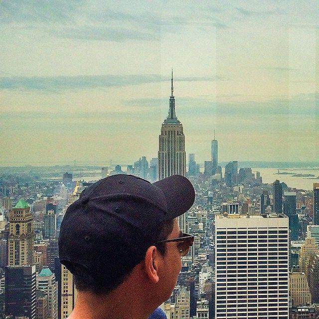 Ecstatic. #throwback #memories #manhattan #newyork #city #NY #vsco #vscocam