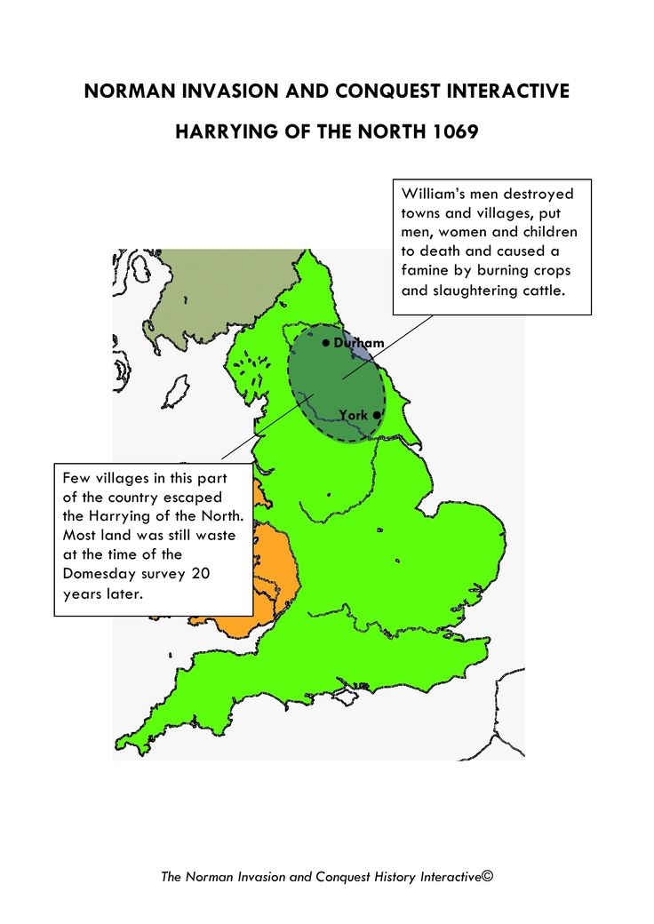The Harrying of the North, 1069 - After 1066 the region was suppressed, but also harnessed as a source of strength for England over the centuries. Despite the harrying, the DNA patterns of around 600CE are still, mostly intact. - Jórvík - Yorkshire