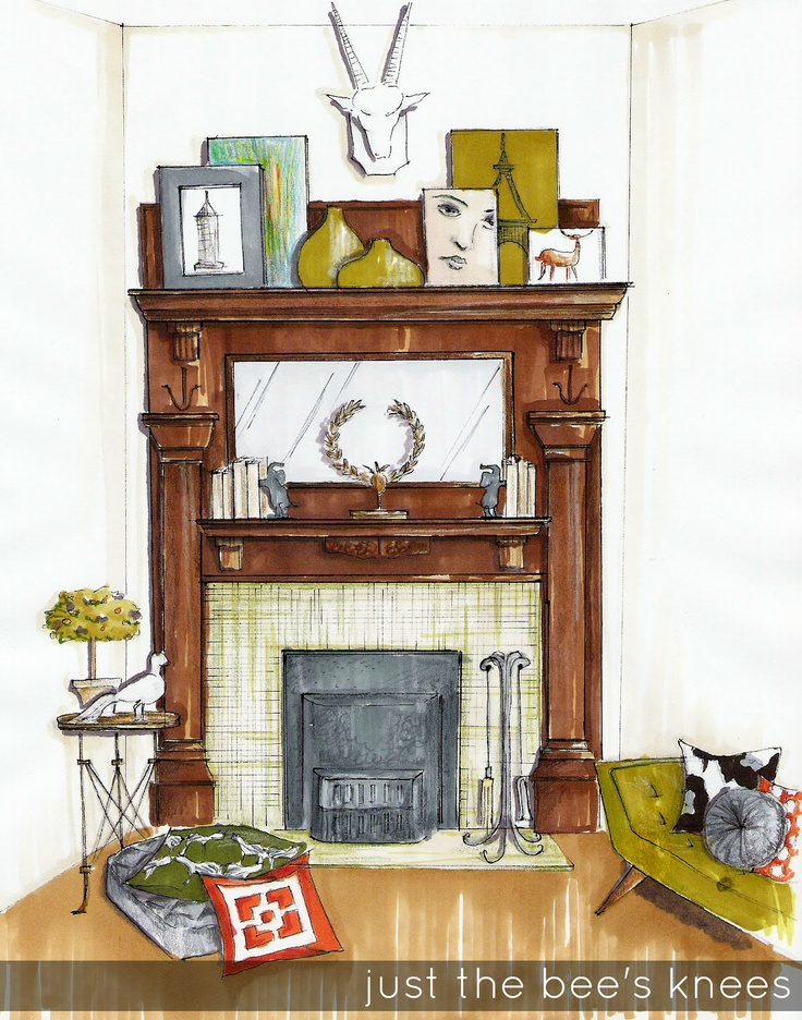 just the bee's knees: Everyday Design Dilemma ~ How to style a Victorian mantle with modern accents