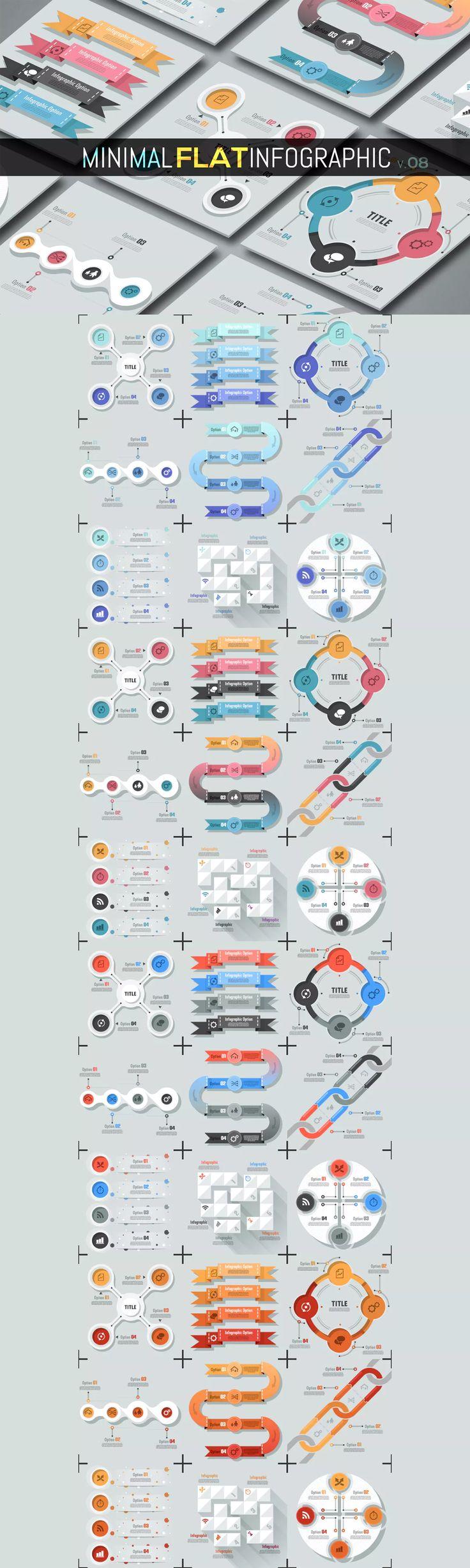 Minimal Flat Infographic Template AI, EPS