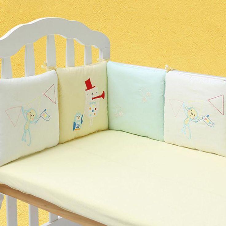 6Pcs/Lot Baby Bed Bumper in the Crib Cot Bumper Baby Bed Protector Crib Bed Set #HotSaleChina